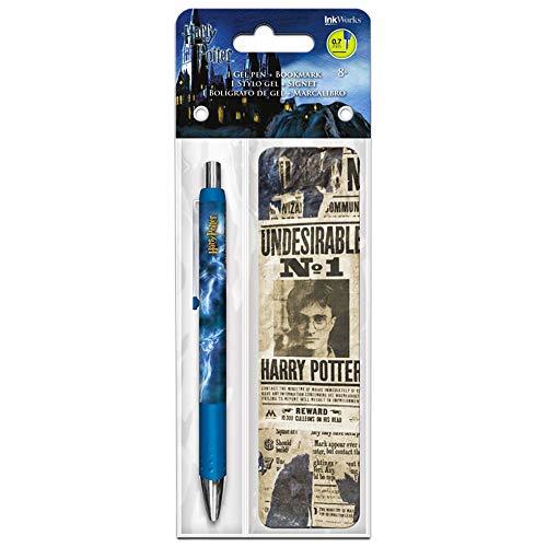 Inkworks Harry Potter Gel Pen and Bookmark Set
