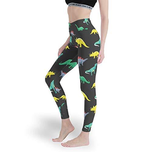Mädchen Fun Leggings Hohe Taille Yoga Hosen Yoga Design Capris Tights für Spielen White l