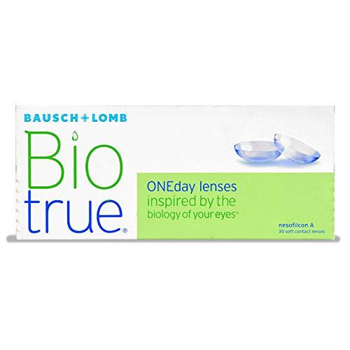 Bausch und Lomb Biotrue ONEday sphärische Tageslinsen, Kontaktlinsen weich -03.75 Dpt, DIA 14,2 mm, BC 8,60, 30 Stück