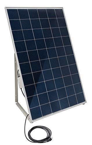 """Home-Solar-Modul 280Wp, produziere deinen eigenen Strom auf Balkon, Garten, Fassade, Terrasse, Dach, etc. mit unserem hochwertigen Balkonkraftwerk (HSM + Ständer + Anschlusskabel\""""Schuko\"""" 5m)"""