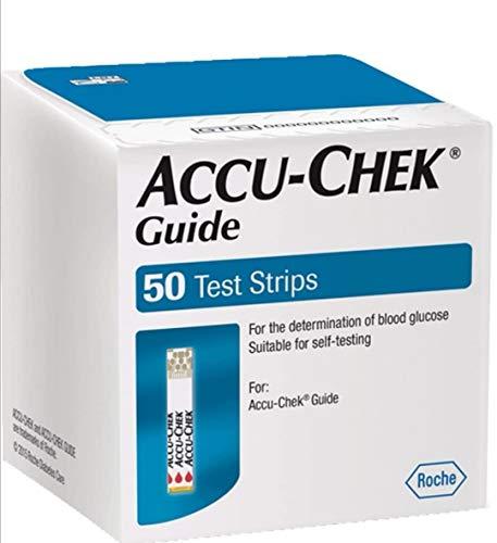 ACCU Chek Guides - 100 Streifen für Kontrolle Blutzucker - accucheck (4x25 Streifen)
