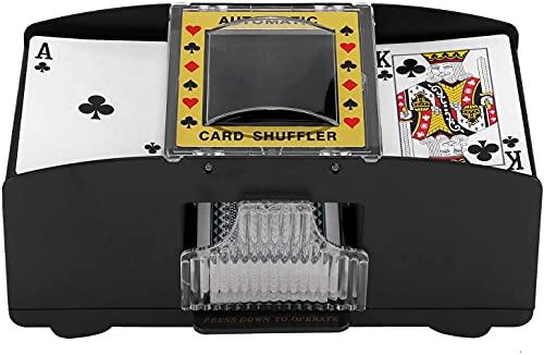 ZONJIE Automatische Kartenmischmaschine 2 Deck, elektronische Casino-Poker-Kartenmischung, batteriebetrieben – Ein/Zwei Deck-Karten-Mischung, Kartenspiel-Zubehör