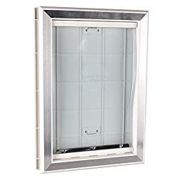 BarksBar Plastic Dog Door with Aluminum Lining
