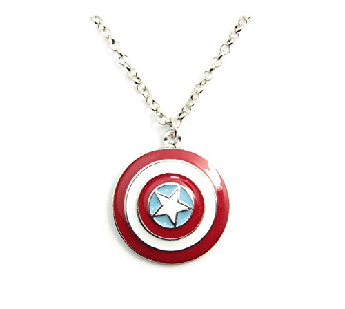 Inspired By Super Hero Captain America the Avengers Star Shield Pendant Necklace Fashion Popular Jewelry