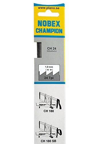 Nobex 0080034 Lame de scie à onglet ch24-630 mm pour coupes fines bois, Argent