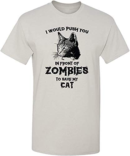 Zombie Cat Funny Halloween Dead Walker Animal T-Shirt Best Cat Dad Ever T Shirt Funny Fathers Day Cat Day T Shirt Cartoon Printed Short Sleeve Oneck Birthday Party Adult Memes Some