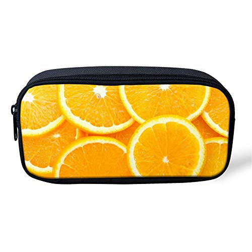 Estuche Escolar Fruta amarillo naranja 3D Bolsa de Lápiz de Gran Capacidad Escuela Oficina adolescente niña chicas