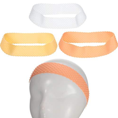 3 Pieces Silicone Wig Headband Elastic Non-Slip Wig Grip Band Silicone Lace Wig Head Band Adjustable Women Hair Wig Band, 3 Colors