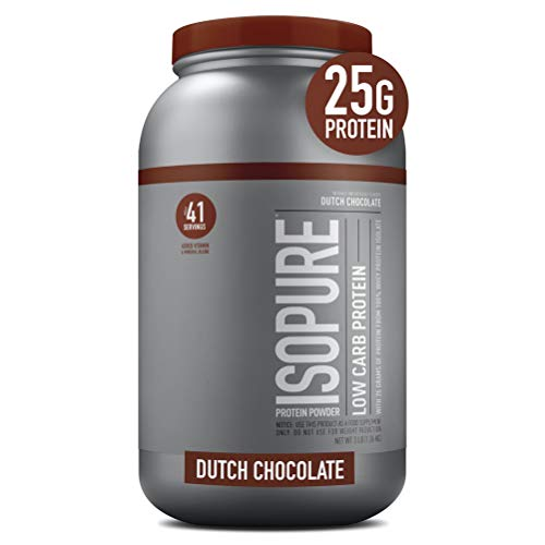 Isopure Low Carb, Vitamin C and Zinc for Immune Support, 25g Protein, Keto Friendly Protein Powder,...