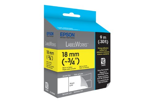 Epson LabelWorks Strong Adhesive LC Tape Cartridge ~3/4-Inch Black on Red (LC-5RBW9) Photo #2