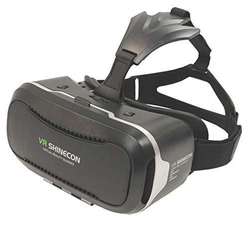 """VR Shinecon 2.0 Virtual Reality Headset for Smartphones Up to 6.4"""", VR Headset for iPhones and Android"""
