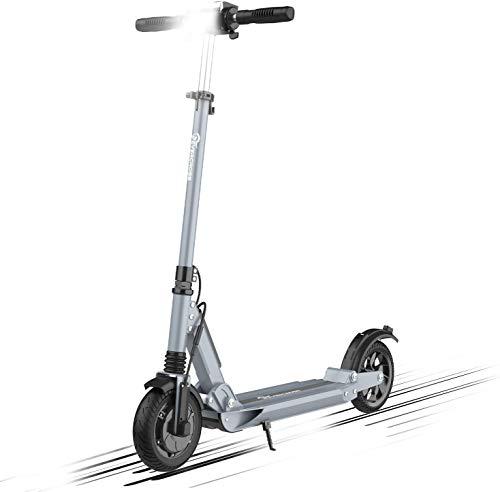 Patiente eléctrico HITWAY Scooter eléctrico para Adultos, Motor eléctrico Plegable de 350 W, batería de 7,5 Ah y neumático Trasero sólido de 8 Pulgadas, 3 Modos de Velocidad, Altura Ajustable