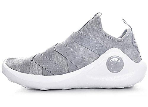 LI-NING Women Samurai III Wade Basketball Culture Shoes Lining Lightweight Fashion Sports Shoes Grey ABCM004 US 8