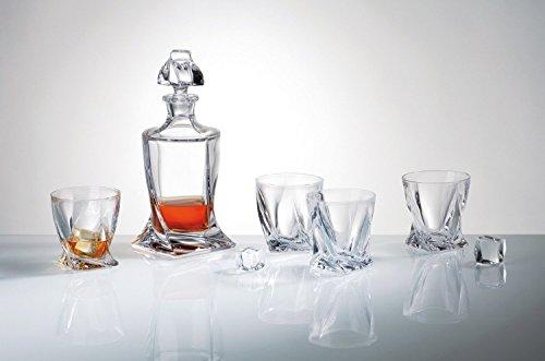 Exclusieve Bohemia Crystal Whisky glazen van 6 + 1 Flagon Quadro Led24%