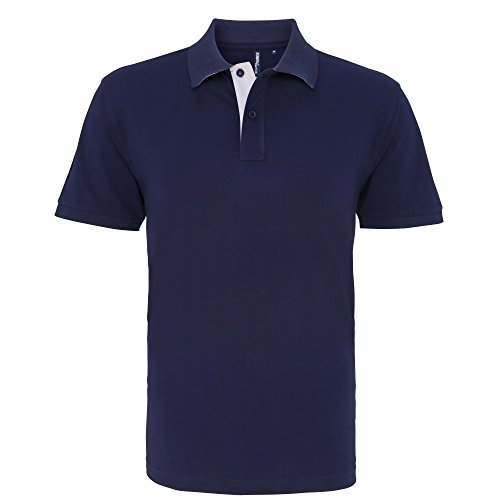 Asquith & Fox Asquith and Fox Men's Classic Fit Contrast Polo, Multicolore (Navy/White 000), XX-Large (Taille Fabricant: 2XL) Homme