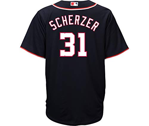 Max Scherzer Washington Nationals Youth 8-20 Navy Alternate Cool Base Replica Jersey (X-Large 18/20)