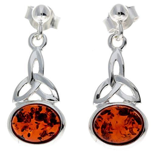 SilverAmber Jewellery UK Mujer plata de ley Special Cut Amber
