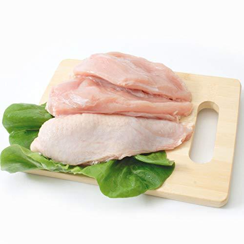 阿波尾鶏 むね肉 2kg(1パックでの発送) (徳島県産) (pr)(00710)特定JAS認定 国産出荷量ナンバー1の軍鶏血統地鶏