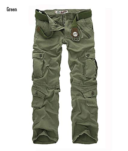 Casual Military Style Camo Cargo Pants Men Many Pockets Camouflage Combat Trousers Cotton Army Tactical Pants Green 31