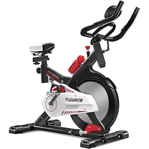 Bicicleta Estática Bicicleta Fija Ultra Silenciosa Bicicleta De Spinning para El Hogar con Asiento Y Manillar Ajustables Pérdida De Peso Bicicleta De Ciclismo Interior con Soporte De Carga 330 Ibs