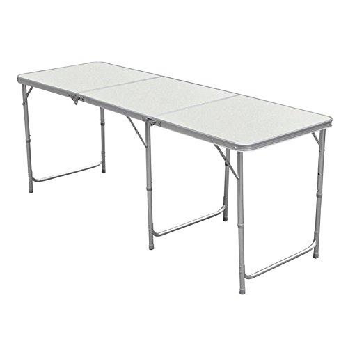 Mesa plegable de aluminio portátil con asa de transporte de Myifan. Mide...
