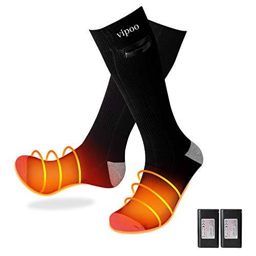WOOCHY Heated Socks Women Men 4000mAh Rechargeable 3 Heating Settings Thermal Socks