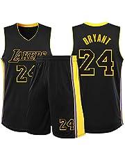 SYXBB-Lampe Koszulka do koszykówki NBA Lakers 24# Kobe Bryant trykot, męska kobieta koszykówka uniform klasyczny dżersej top, czarny, M