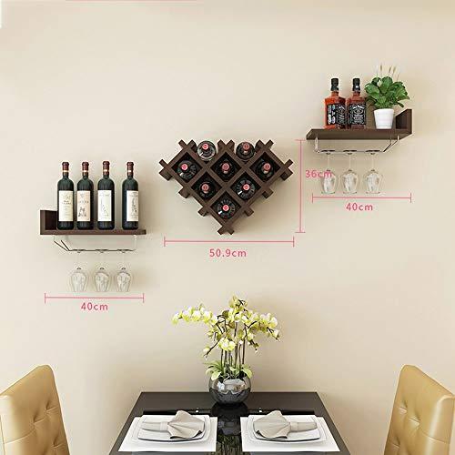LYX Botelleros para vino, Botelleros creativos europeos para vino, Botella de vino contemporánea montada en la pared de la botella, Botellero para vino, Botellero horizontal para vino, Decoraciones d
