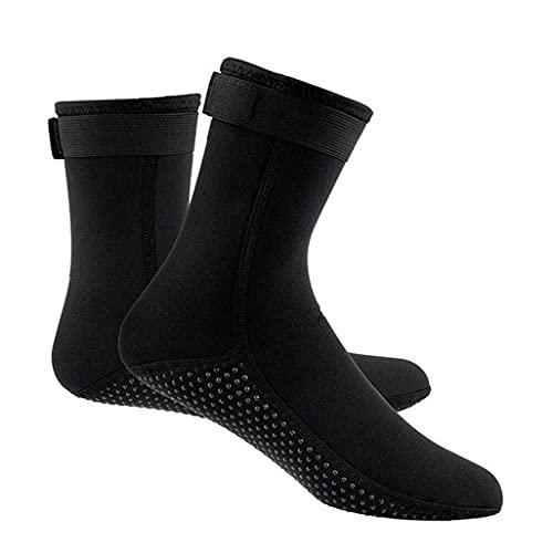 Buceo calcetines antideslizante térmica Traje de natación Calcetines Calcetines 3MM para deportes acuáticos Aletas Calcetines Negro (XXL)