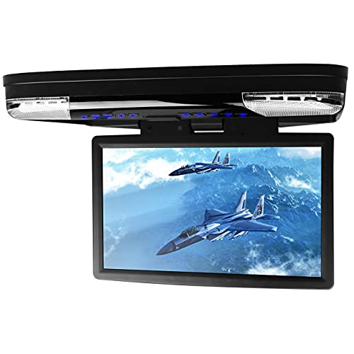 XTRONS 15.6 Inch 1080P Video HD Digital Widescreen Car Overhead Coach Caravan Roof Flip Down DVD Player Game Disc with HDMI Port