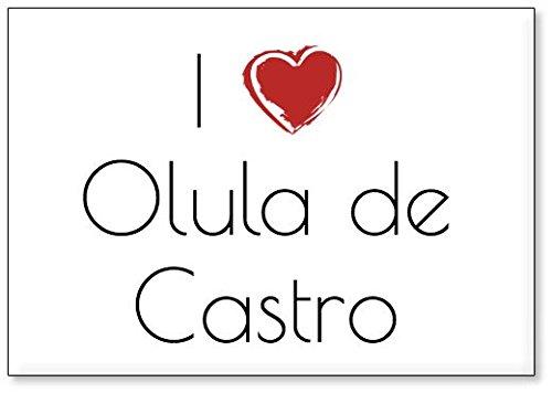 Mundus Souvenirs - Amo Olula de Castro, Imán para Nevera (diseño 1)