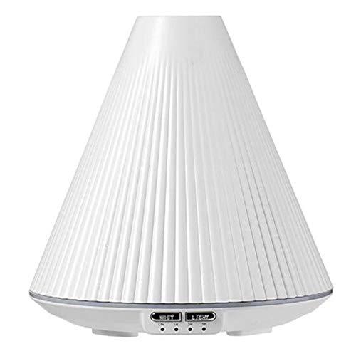 SovelyBoFan Humidificador UltrasóNico de Aire VolcáNico con Luz LED Difusor de Aceite Esencial Difusor de Aroma Humidificadores USB Ambientador Nebulizador Blanco