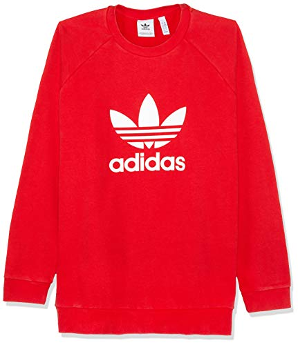 Adidas Trefoil Crew–Sudadera, Hombre, Rojo (Collegiate Red), XS