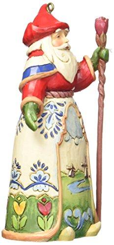 "Jim Shore Heartwood Creek Dutch Santa Stone Resin Hanging Ornament, 4.5"""