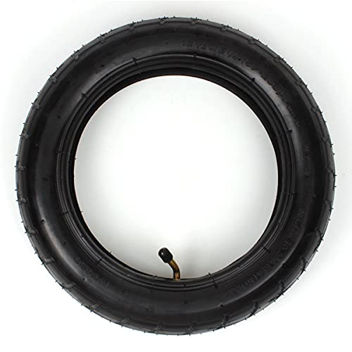 YXZQ Neumáticos, neumático de 12 1/2 x 2 1/4 + Tubo Interior con reemplazo de vástago en ángulo TR-87 para Scooter eléctrico Pocket Mod 24 V, Caucho de isobutileno, isopreno