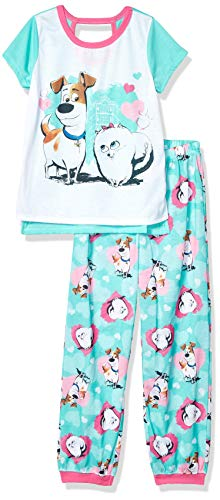 AME Sleepwear Girls' Little Secret Life of Pets 2-Piece Pajama Set, Puppy Love, 4