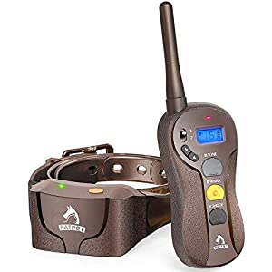 PATPET Dog Training Collar IPX7 Waterproof Training Collars for Dogs with Remote Rechargeable 3 Training Modes, Beep, Vibration and 16 Static Levels