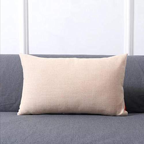Almohada de color sólido para el hogar, cojín grande, accesorios para el coche, almohada lumbar, simple, albaricoque, 30 x 50 cm