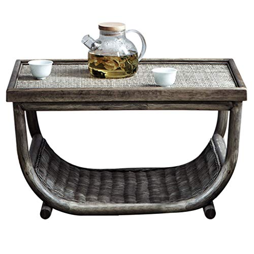 Coffee Tables Balcony Bay Window Small Tea Table Multi-functional Tatami Table Can Be Used To Store Square Table (Color : Gray)