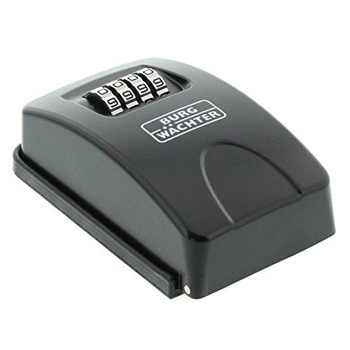 BURG-WÄCHTER Schlüsseltresor mit 4-stelligem Zahelncode für außen und innen, Sicher, Wandmontage, Key Safe 20 SB, Schwarz