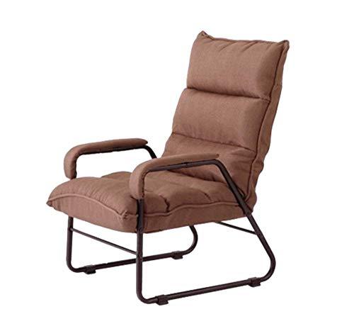 Tragbares Sofa Sofastuhl Klappbare Lazy Couch Dickes Kissen Schlafzimmer Büro Einfacher Bequemer Nickerchenstuhl 52 × 50 cm (Farbe: Braun, Größe: A)