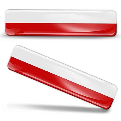 2 x sticker 3D gel siliconen stickers poland vlag Polen vlag vlag vlag vlag autosticker F 16