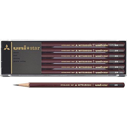 三菱鉛筆 uni ユニスター鉛筆 2B 1箱 12本 [1745]