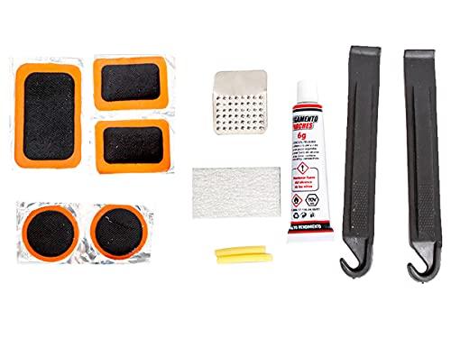 Kit Riparazione Camera d'Aria Bici, Confezione da 12 Pezzi