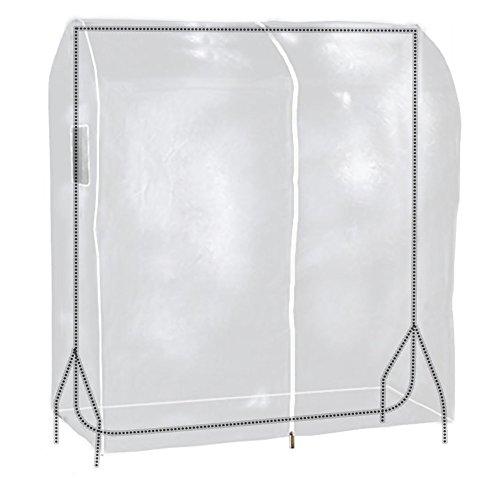 Hangerworld Funda 121cm para Perchero Cubierta para Burro Plástico Transparente Protege del Polvo