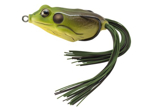 LIVE TARGET Koppers Floating Frog Hollow Body Lure, 2.25-Inch, 5/8-Ounce, Green/Brown (FGH55T508)