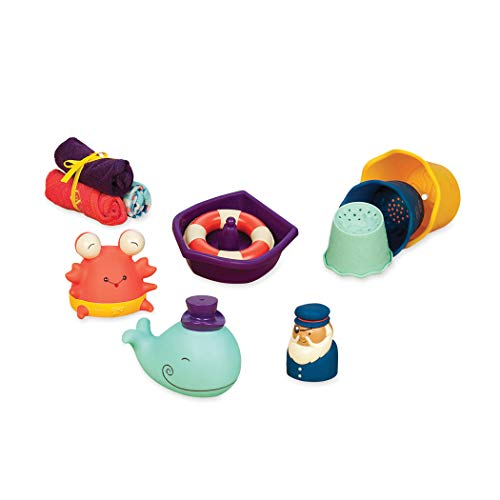 Lowest Price! B. toys – Wee B. Splashy Baby Bath Toys – Toddler Bath Tub Starter Kit (11-Pcs) Fo...
