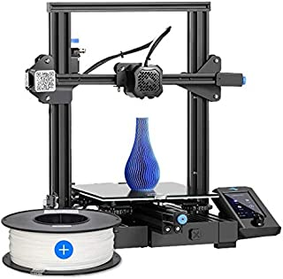 Creality Ender-3 V2 2021 3D Printer + 3IDEA Premium PLA White Filament (1.75mm, 1Kg) - Combo Offer