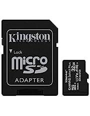 Kingston Canvas Select Plus Tarjeta microSD, SDCS2/32GB Class 10 con Adaptador SD