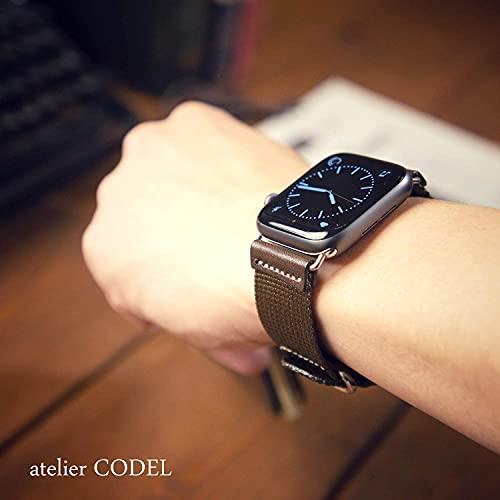 atelierCODEL Apple Watch バンド レザー 本革 ナイロン ベルト ミリタリー